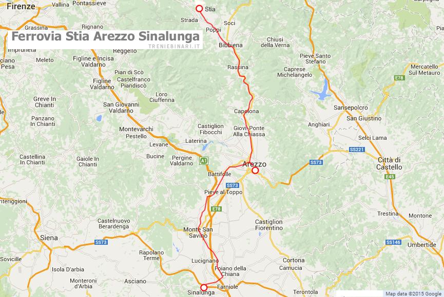 Cartina Ferroviaria Toscana.Linee Ferroviarie In Esercizio In Toscana Treniebinari It